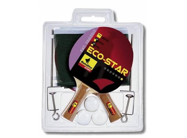 Síťka komplet na stolní tenis + 2xpálka ECO STAR