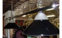 lampa 2 kov+ sklo černá CLUB