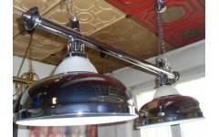 lampa 2 kov + sklo CROWN stříbrná
