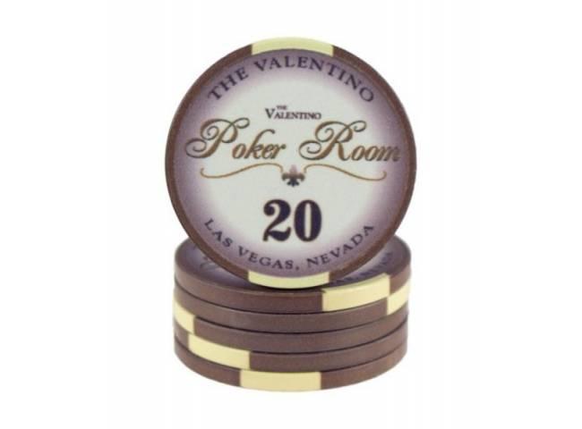 Poker chip Valentino - hodnota 20