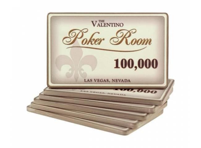 Poker plaketa Valentino - hodnota 100.000