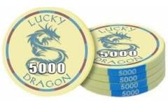 Poker chip Lucky Dragon - hodnota 5000