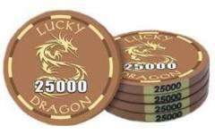 Poker chip Lucky Dragon - hodnota 25000